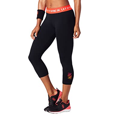 36309bbdd21730 STRONG by Zumba Women's Shaping Athletic Performance Cropped Workout  Leggings with Compression, Bold Black,