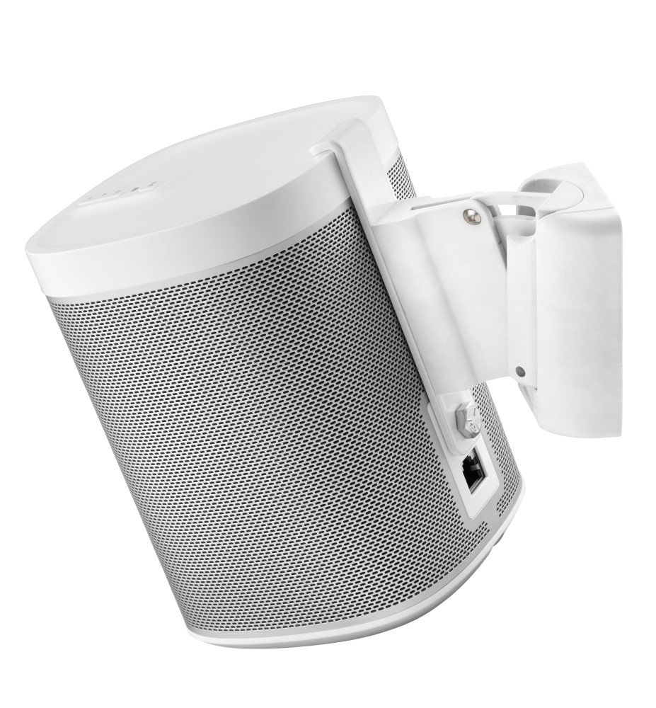 Cavus Wall Mount Sonos Play 1 - Wall Bracket Suitable for Sonos Play 1 - CMP1W - White by Cavus