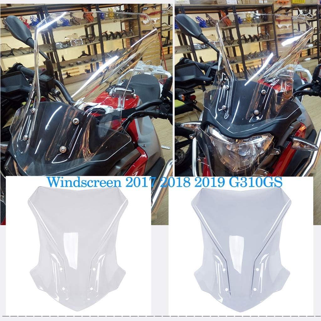 Motorcycle Accessories Windshield for BMW G310GS 2017-2019 Gray B Baosity Windproof WindScreen Deflectors