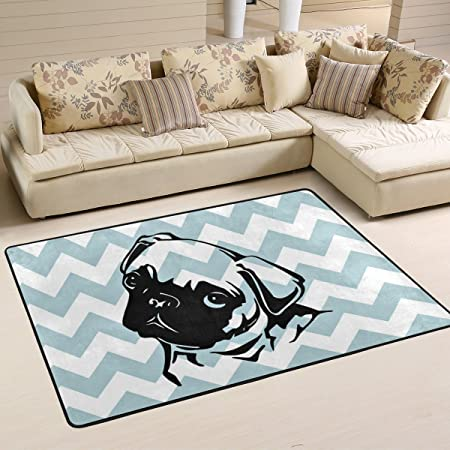 Jstel Woor Dog Living Room Dining Area Rugs 72 X 48 Inch Bed Room