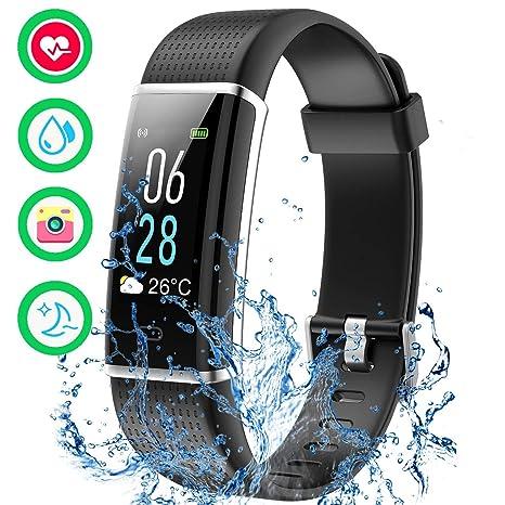 283ed5a7b20d12 Mpow Fitness Tracker IP68 Orologio Fitness Pedometro, Cardiofrequenzimetro  da Polso, Calorie, Monitoraggio del