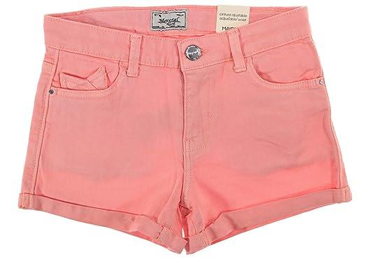 Mayoral M/ädchen Jeans-Shorts mit Glitzer blau