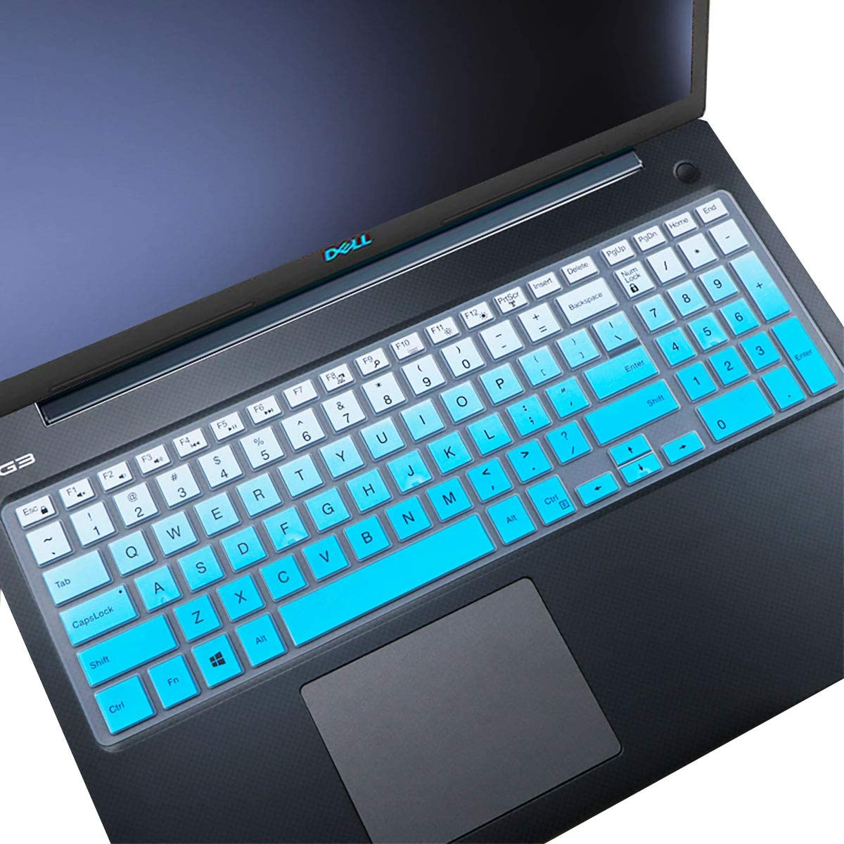 Keyboard Cover fit Dell Inspiron 15 3000 5000 Series/New Inspiron 17 3000 Series/Insprion 17 7786 /Dell G3 15 17 Series/New Dell G5 15 Series/Dell G7 15 17 Series- Gradual Blue