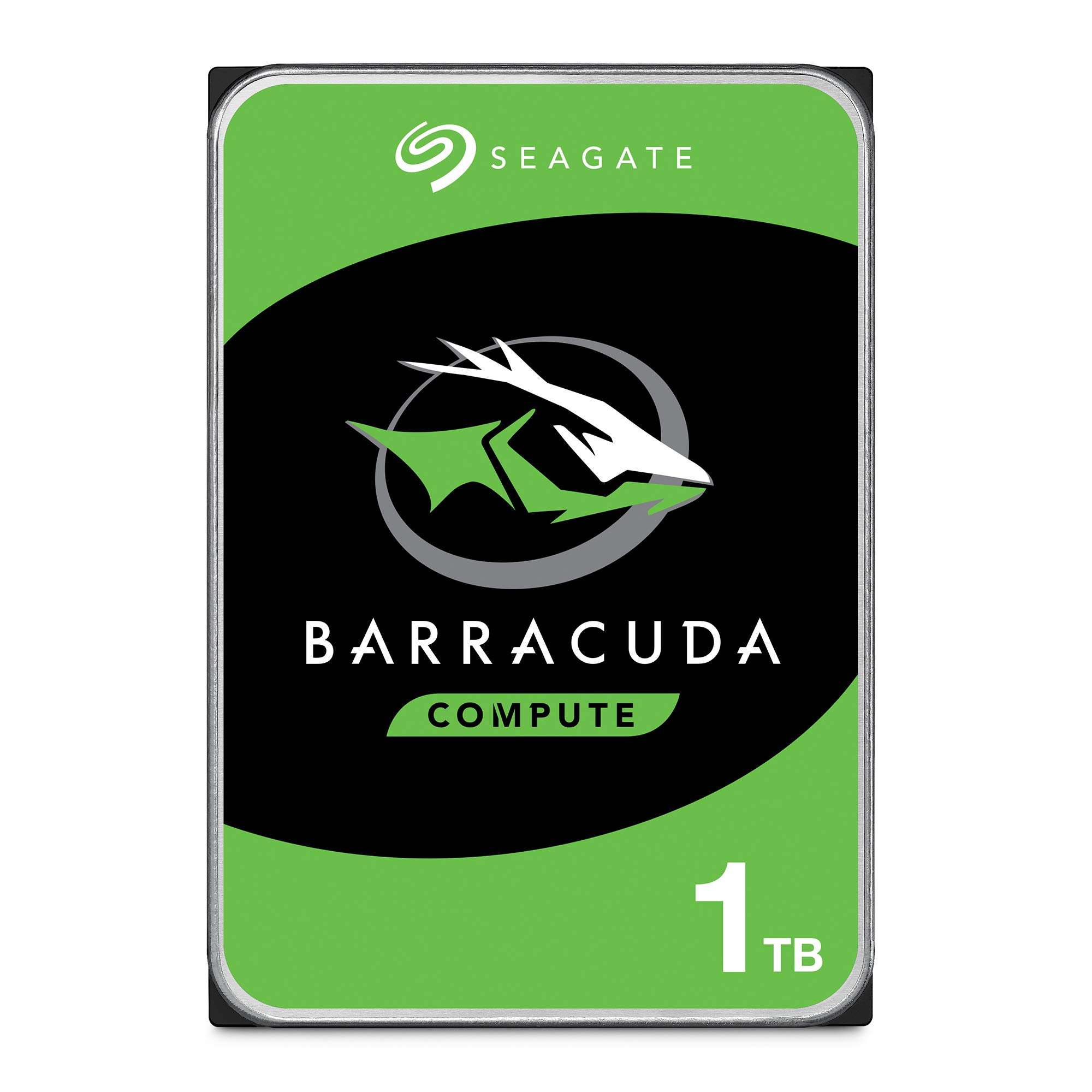 Seagate BarraCuda 1TB Internal Hard Drive HDD - 3.5 Inch SATA 6 Gb/s 7200 RPM 64MB Cache for Computer Desktop PC (ST1000DM010) by Seagate