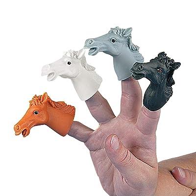 Fun Express - Vinyl Horse Finger Puppets - Toys - Character Toys - Finger Puppets - 12 Pieces: Toys & Games