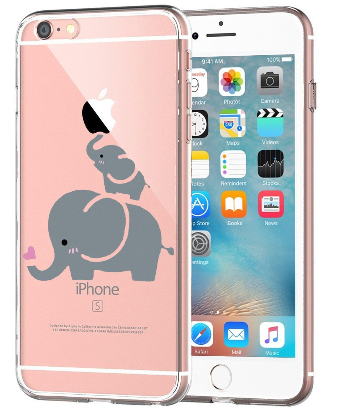 Bambine e ragazze Caler Custodia iPhone 6 Caso Silicone TPU Ultra ...