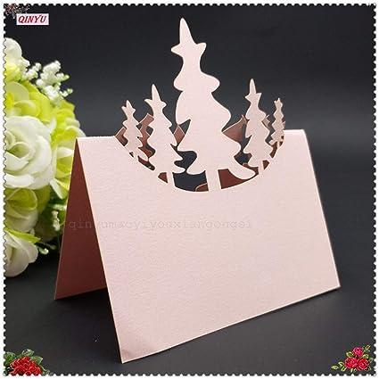 Amazon Com Batop 10pcs Christmas Tree Table Name Card Hollow Seat