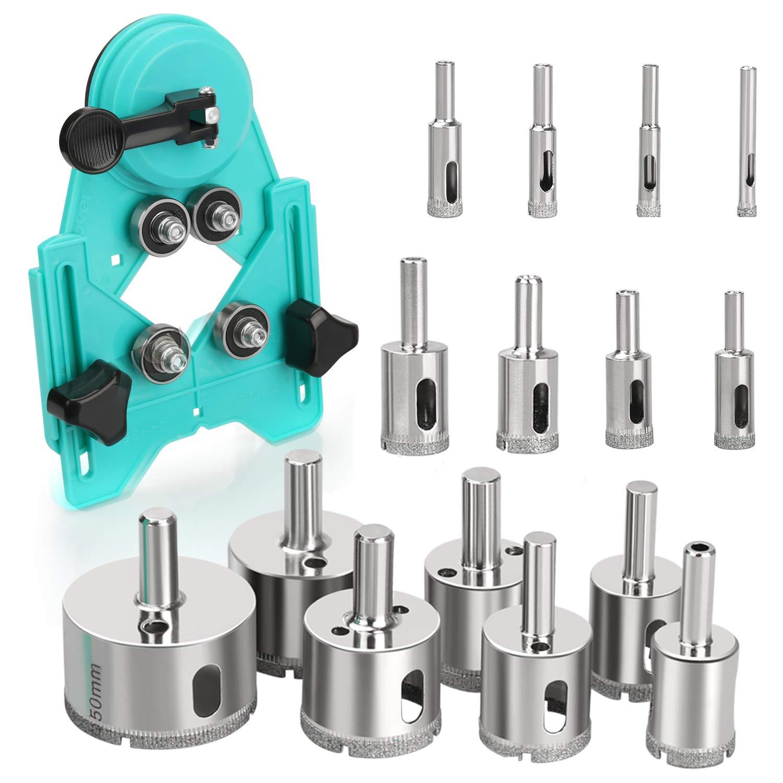 15pcs 6mm-50mm Diamond Tool Drill Bit Hole Saw Set For Glass Ceramic Marble