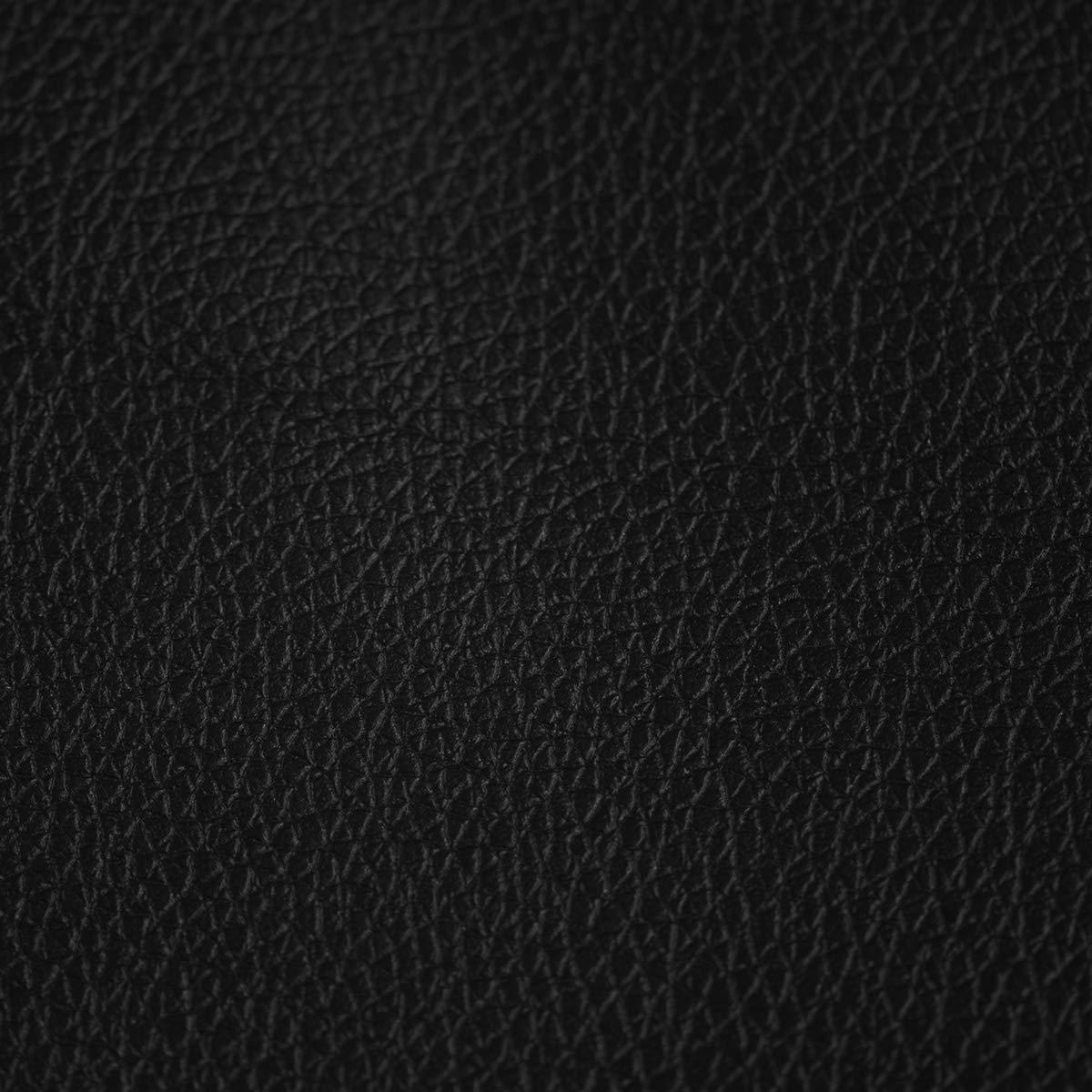 Divano con 2 Cuscini Braccioli in Ecopelle Panama Divano Letto 3 Posti in Ecopelle Ecopelle 181 x 81 x 85 Nero Divano Reclinabile con Piedi in Metallo