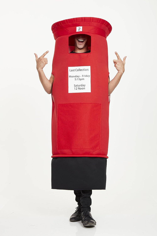 Bristol Novelty AF103 - Disfraz de buzón, unisex, color rojo ...