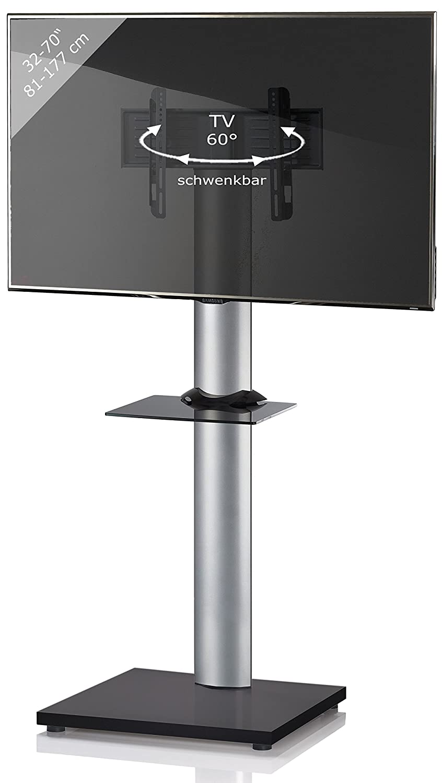 VCM TV Standfuß LED Ständer Fernseh Alu Glas Universal VESA Mobil ...