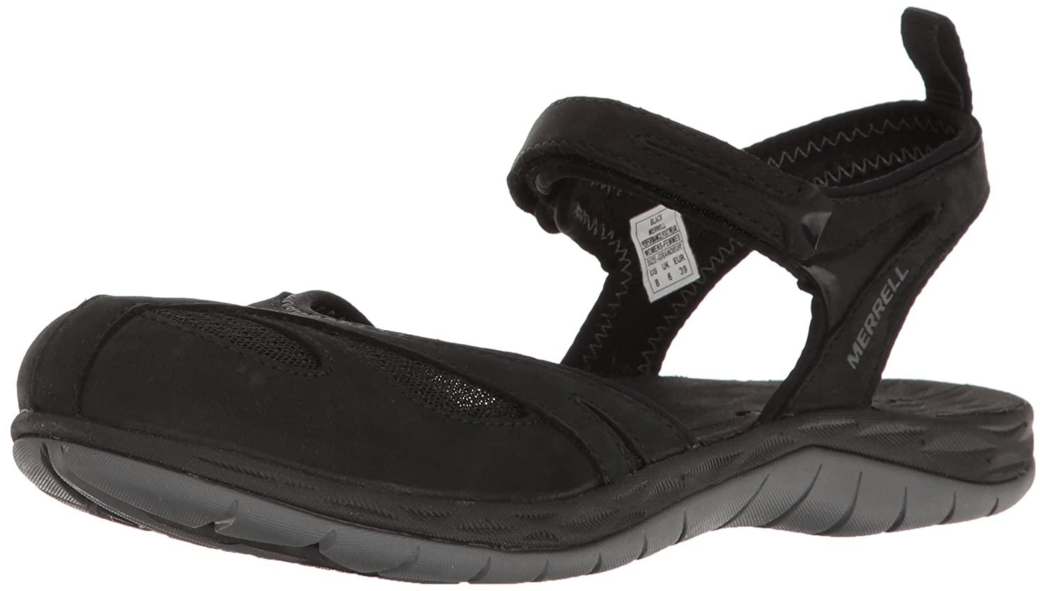 Merrell Women's Siren Wrap Q2 Athletic Sandal B01HGW6FTO 6 B(M) US|Black