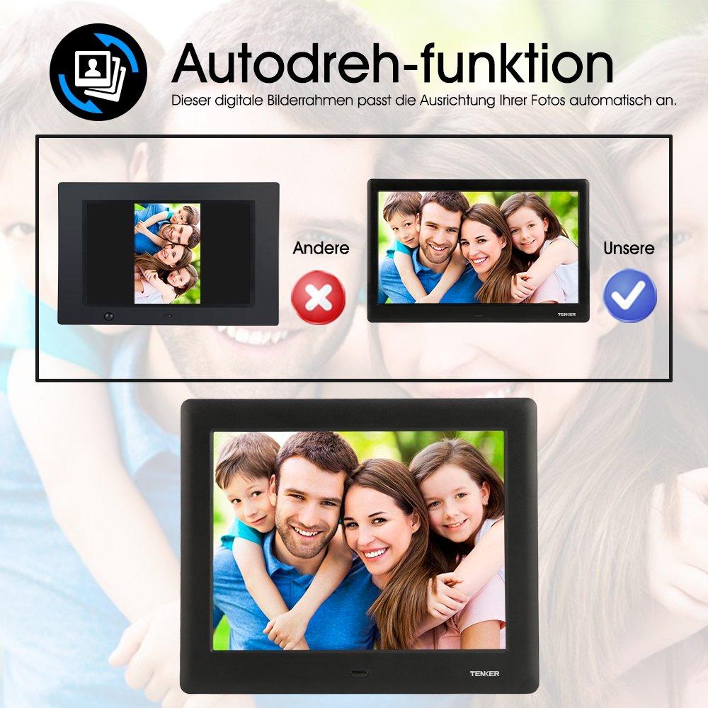 TENKER 7-Zoll HD Digitaler Bilderrahmen IPS LCD Display mit ...