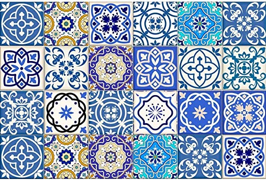 Amazon Com Calcoman Iacute As De Azulejos Tipo Talavera Para