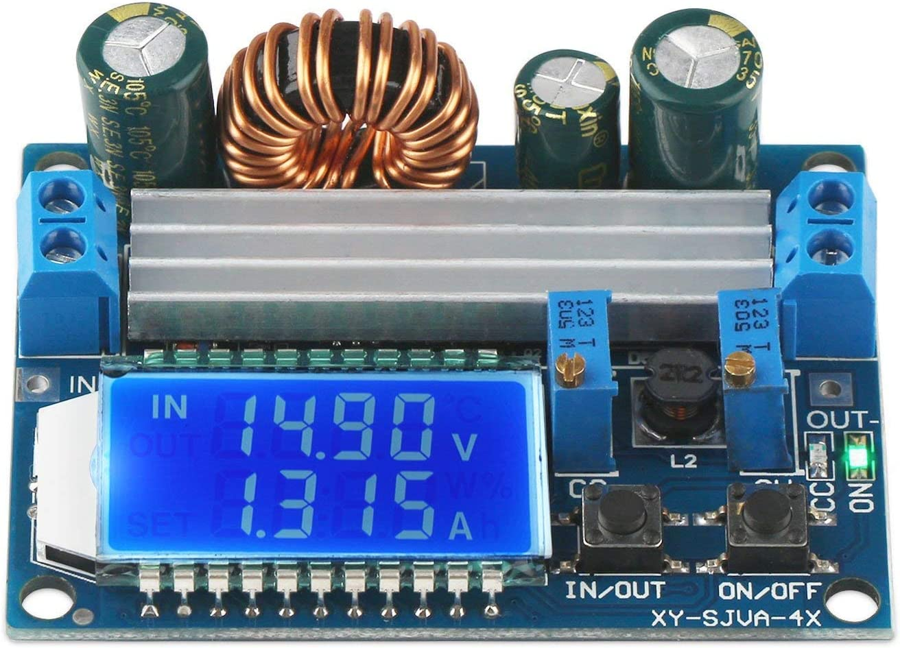 ARCELI Buck Boost Converter Display, DROK Buck-Booster DC 5.5-30V 12v a DC 0.5-30V 5v 24v Voltaje Actual Constante Ajustable Paso Arriba Regulador de Voltaje 3A 35W Módulo de Fuente de alimentación