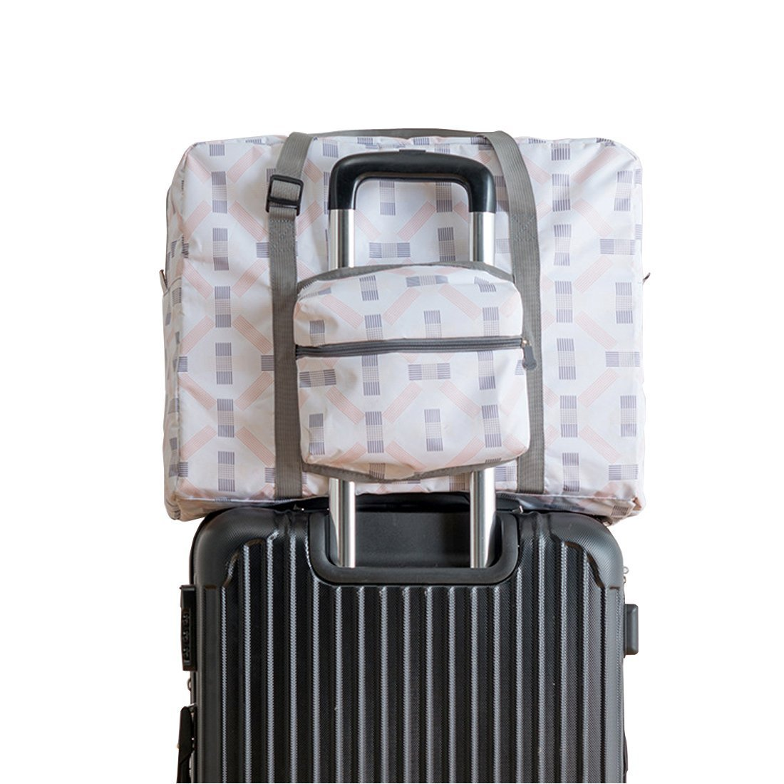 Travel Luggage Bag Waterproof Reusable Folding Large Capacity Carry Storage Tote Bag