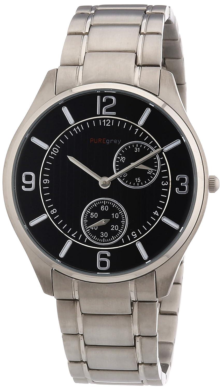 Pure Grey 1671,90196 - Reloj analógico de Cuarzo para Hombre, Correa de Titanio
