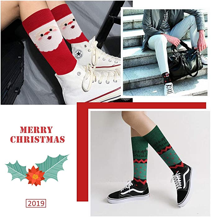 Merry Christmas Unisex Funny Casual Crew Socks Athletic Socks For Boys Girls Kids Teenagers