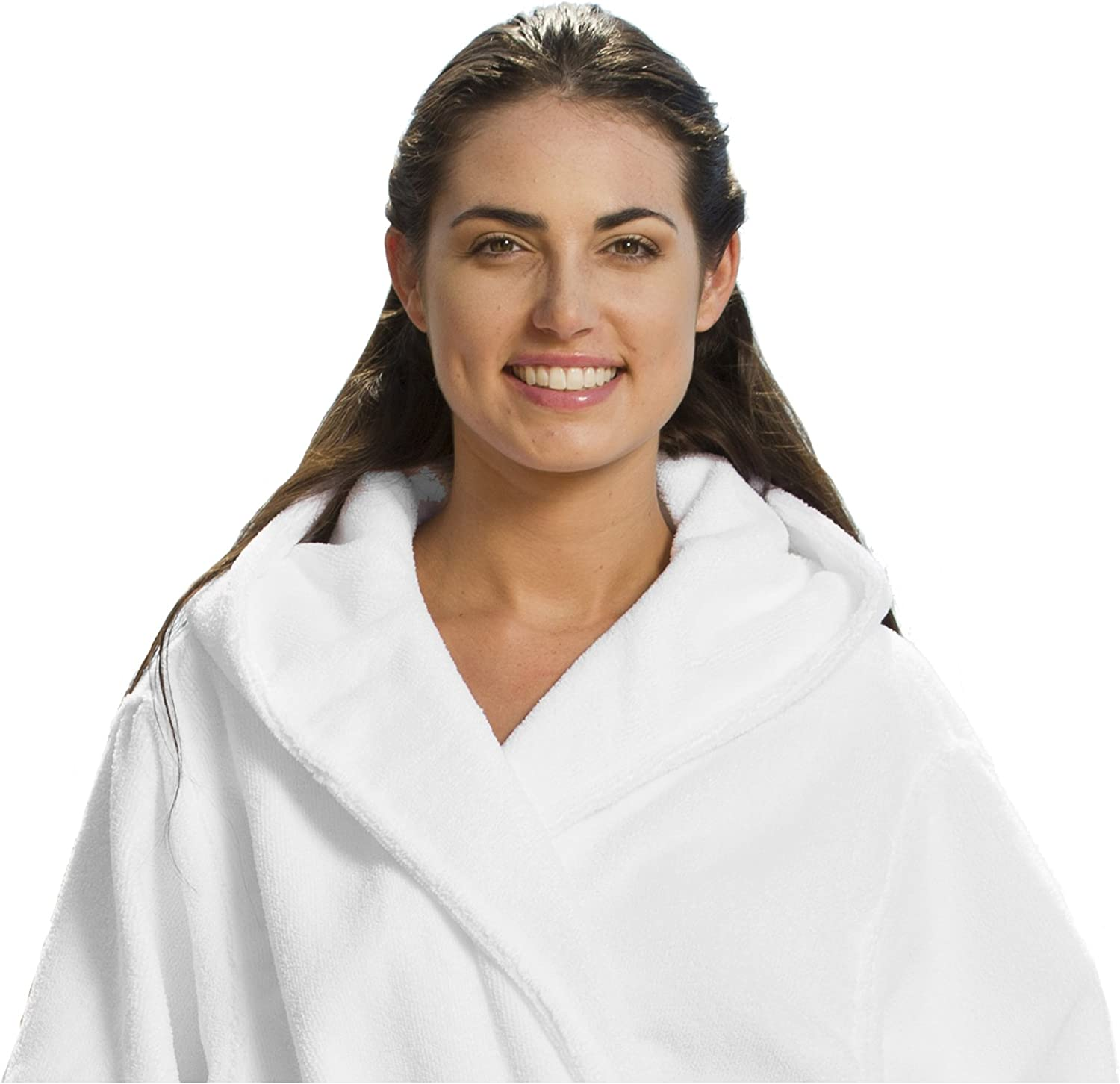 BY LORA Shower Hooded Robes Bathrobes for Women Ladies Mens 2X//3X Large White