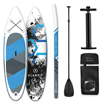 Klarfit Tabla Paddle Surf Hinchable - MALIKO 305x10x77cm Sup Surf ...