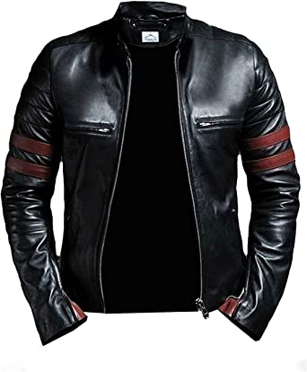 VearFit Hybrid Mayhem Hero Black PU Faux Leather Biker Jacket for Men at  Amazon Men's Clothing store