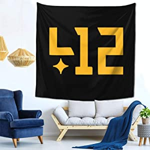 JKVSAICV 412 Pit+Tsburgh Light-Weight Soft, Comfortable and Durable Tapestry Fabric Good Indoor Wall Decoration (59x59inch)