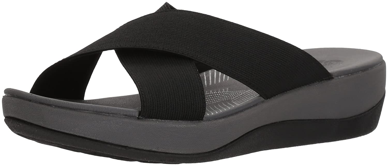 Black Solid Clarks Women's Arla Elin Sandals