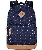 SAMGOO Unisex Lightweight Canvas College Backpacks Travel Hiking Laptop Backpack