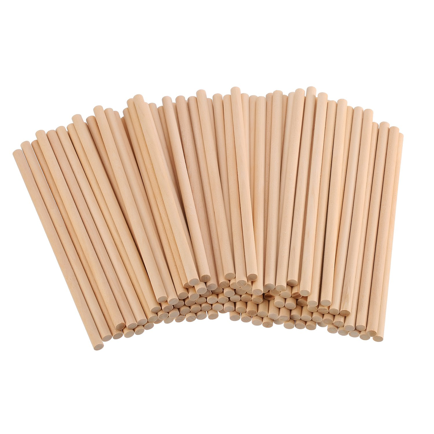 Eboot Unfinished Natural Wood Craft Dowel Rods 100 Pack 6 X 14 Inch