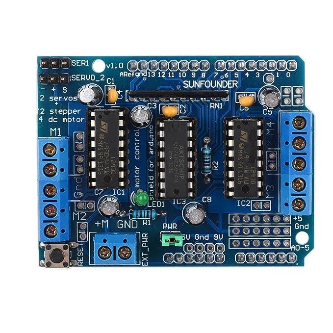 10 opinioni per SunFounder L293D Motor Drive Shield For Arduino Duemilanove Mega UNO R3 AVR