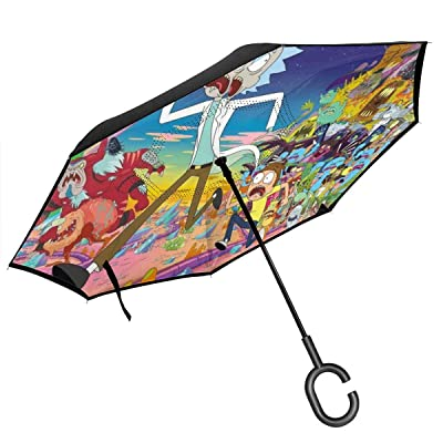 Rick Morty Car Reverse Umbrella
