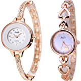 Addic Combo of 2 White Dial Analogue Women's Watches