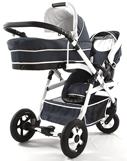 Carro doble (gemelar) niños diferentes edades. 2 sillas + 1 ...
