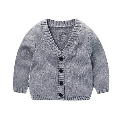 J-TUMIA Chaqueta de Abrigo para niños Suéter Tipo Cardigan con Cuello en V de