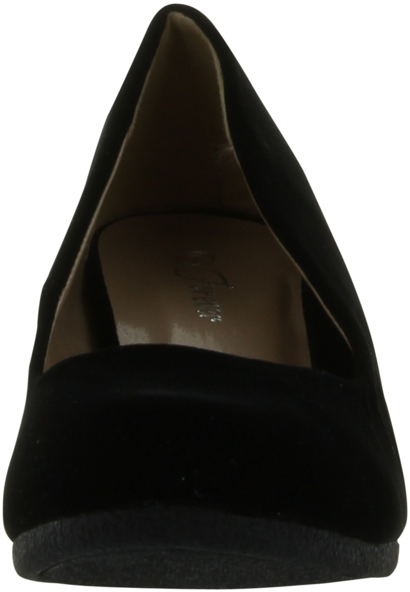 Forever Link Women's Patricia-02 Wedge Pumps Shoes,Black Suede,10 by Forever (Image #3)