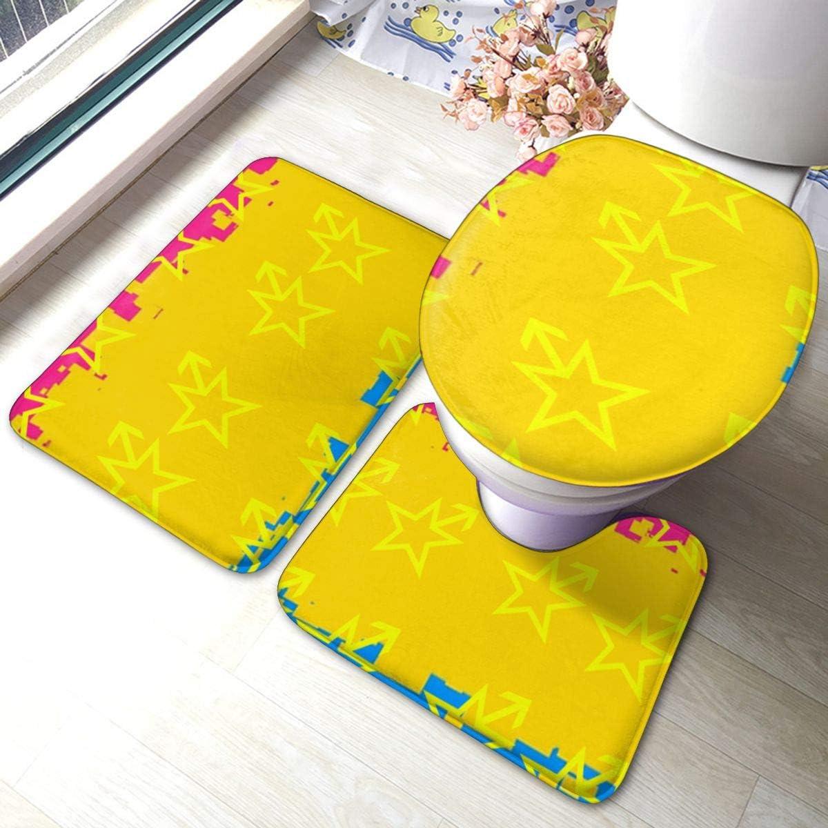Amazon.com: FHDA Yellow Star Colorful Background 5 Piece Bathroom