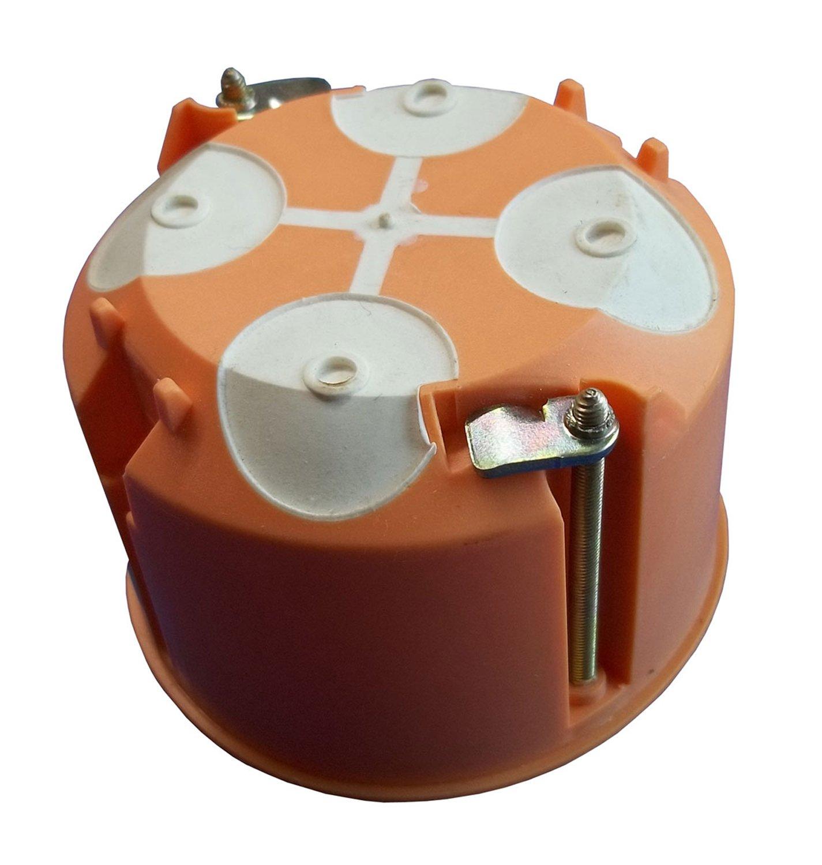10 St/ück Hohlwanddose mit Membrane Tiefe 61 mm