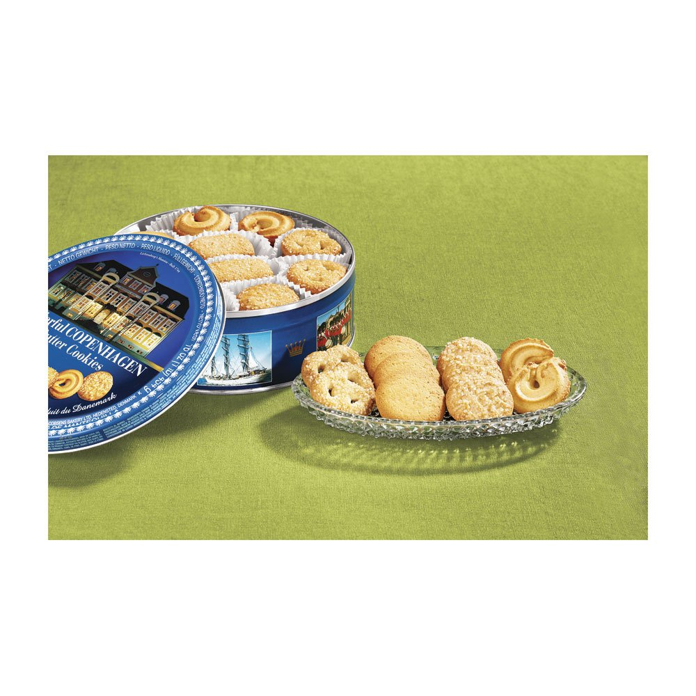 Classic Christmas Tin with Danish Butter cookies, 7 oz.