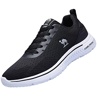 229c97ef8 CAMEL CROWN Women Casual Fashion Sneakers Running Shoes Lightweight  Breathable Sport Athletic Walking Tennis Shoes Black