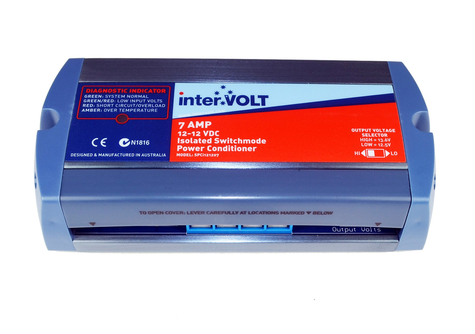 interVOLT Heavy Duty 7 Amp 12V DC-DC Isolated Voltage Stabilizer / Regulator / Power Conditioner / Battery Charger (10-16 VDC Input - 12.5 or 13.6 VDC Output) Model SPCi121207 by interVOLT (Image #2)