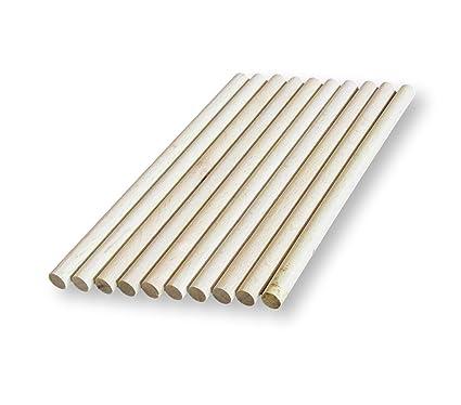 10 x tacos de madera, palos de Craft - 8 mm de espesor, 10 ...