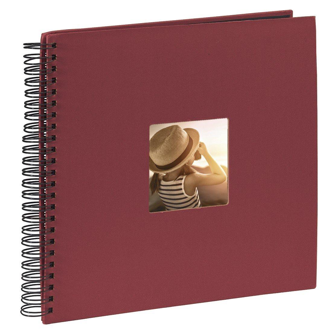 Hama Fine Art - Álbum de fotos, 50 páginas negras (25 hojas), álbum con espiral, 36 x 32 cm, con compartimento para insertar foto, lila 00094871