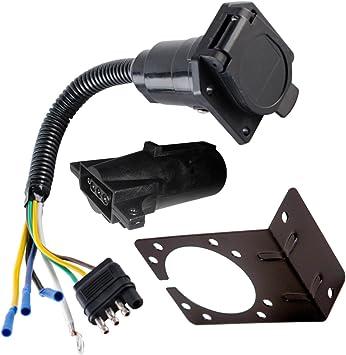 Amazon.com: EnergyPlug 4 Wire Flat to 7 Way Adapter RV Trailer Wire Harness  with Bracket and Adapter: AutomotiveAmazon.com