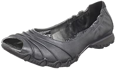 skechers peep toe sport flat