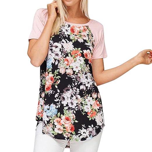 Toraway Plus Size Blouses For Women Fashion Floral Print Short