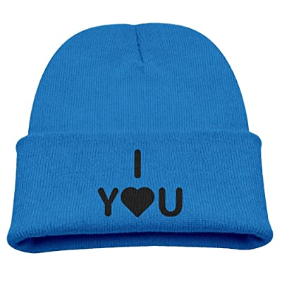OQHO12 Love You Heart Romance Kids Hat Warm Soft Fashion Cute Knitted Cap For Autumn Winter