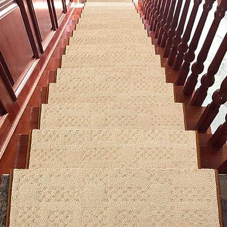 World-ditan Escalera alfombras peldaños Escalera peldaño Adhesivo Interior Autoadhesivo Escalera Antideslizante (Color : A(1pcs), Tamaño : 90 * 24 * 3cm): Amazon.es: Hogar