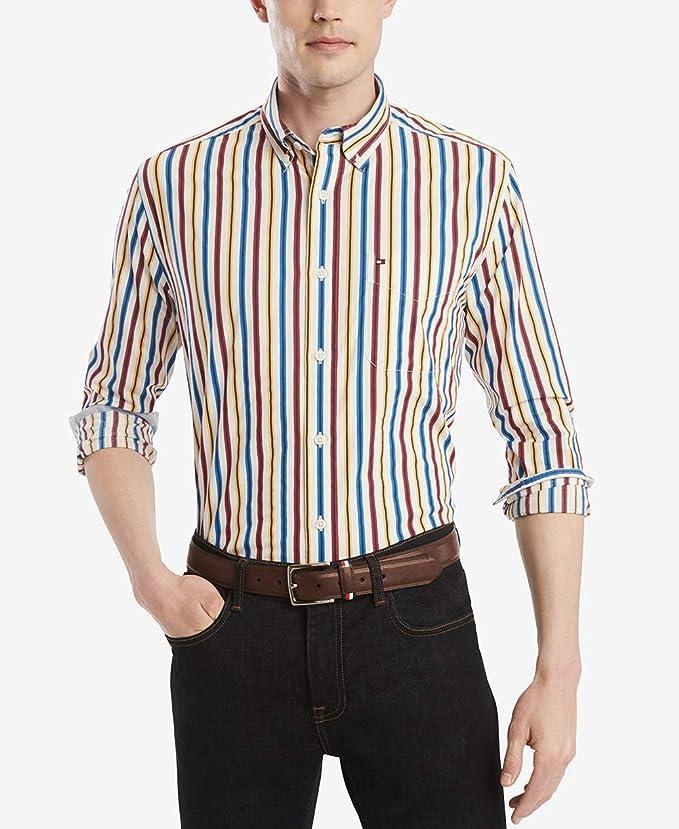 Tommy Hilfiger 汤米希尔费格 纯棉 男式长袖衬衫 3.5折$21.13 海淘转运到手约¥164