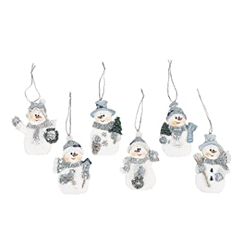 watch 89dba 533a1 Resin Blue Snowman Christmas Ornaments (Pack of 12)