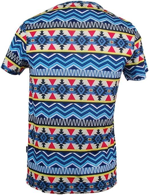 TRANKILO Camiseta Azul con Estampado Geometrico (XL): Amazon.es: Ropa y accesorios